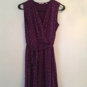 Uniqlo Sleevless Purple Polka Dot Dress Size Small